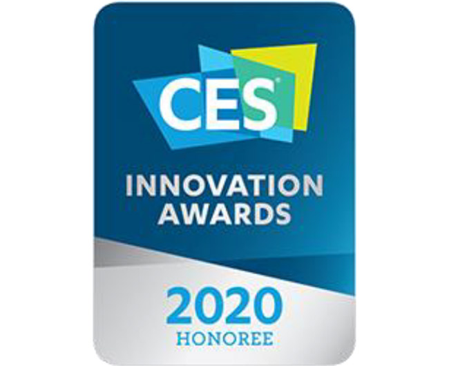 CES2020にて、「The Top Tech」「Most favorite」「Innovation award」を受賞